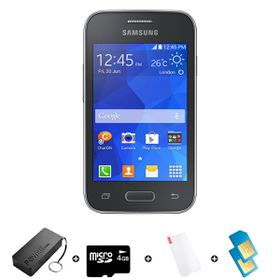Samsung Young 2 4GB 3G Black - Bundle 4 incl. R600 Airtime + 1.2GB Starter Pack + Accessories