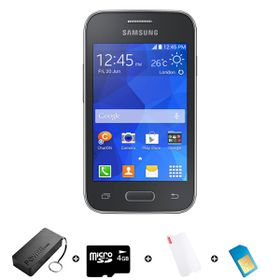 Samsung Galaxy Young 2 4GB 3G Bundle + Accessories - Black