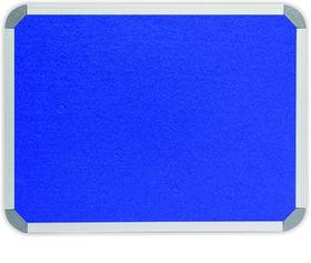 Parrot Info Board Aluminium Frame - Royal Blue Felt (600 x 450mm)