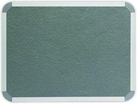 Parrot Info Board Aluminium Frame - Grey Felt (600 x 450mm)