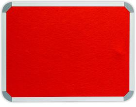 Parrot Info Board Aluminium Frame - Burnt Orange Felt (600 x 450mm)