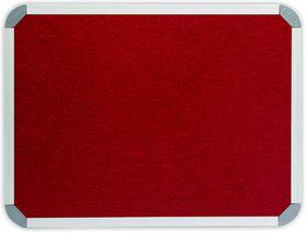 Parrot Info Board Aluminium Frame - Burgundy Felt (600 x 450mm)