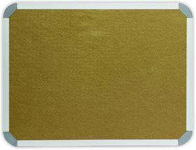 Parrot Info Board Aluminium Frame - Beige Felt (900 x 600mm)