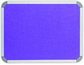 Parrot Info Board Aluminium Frame - Purple Felt (900 x 900mm)