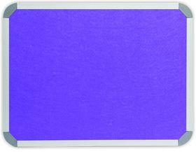 Parrot Info Board Aluminium Frame - Purple Felt (1200 x 900mm)