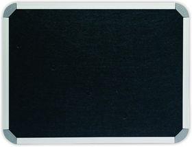 Parrot Info Board Aluminium Frame - Black Felt (1000 x 1000mm)