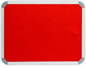 Parrot Info Board Aluminium Frame - Burnt Orange Felt (1000 x 1000mm)