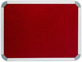Parrot Info Board Aluminium Frame - Burgundy Felt (1000 x 1000mm)