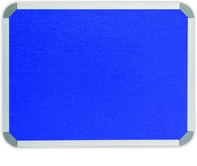 Parrot Info Board Aluminium Frame - Royal Blue Felt (1200 x 1000mm)