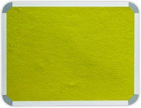 Parrot Info Board Aluminium Frame - Yellow Felt (1200 x 1000mm)