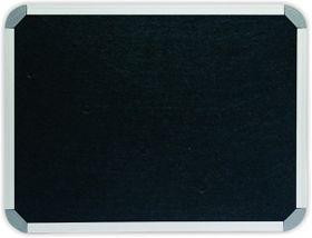 Parrot Info Board Aluminium Frame - Black Felt (1200 x 1200mm)