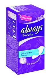 Always Everyday Liners Normal Unscented - 20s