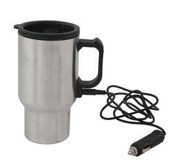 Marco Car Charger Mug - Silver/Black