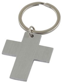 Marco Cross Keyring - Silver