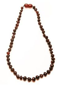 Baltic - Amber Teething Necklace - Dark Cherry