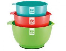 Beka - 3 Piece Mixing Bowl Set - 1 - Multi-Coloured