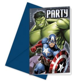 Avengers Power Multihero Invitations and Envelopes