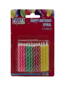 Party with Us Birthday Candles