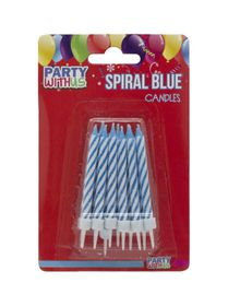 Party with Us Birthday Candles in Blue