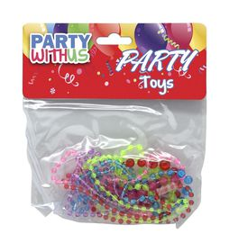 Party with Us Party Favour Glitter Bead Necklace