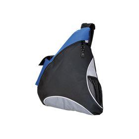 Eco Sling Bag With Mesh Pockets - Blue