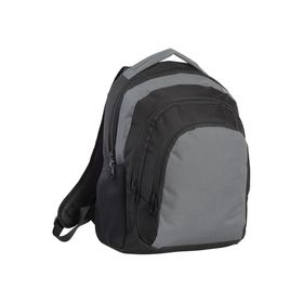 Eco Large Three Compartment Backpack - Grey