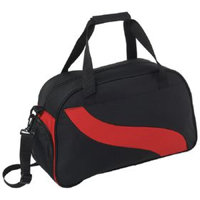 Eco Wave Design Duffle Bag - Red