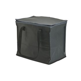Eco Three Compartment Portable Boot Organiser With Cooler - Black
