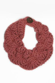 Plaited Crochet Scarf - Pink