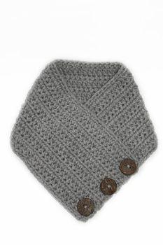 Crochet Scarf - Grey