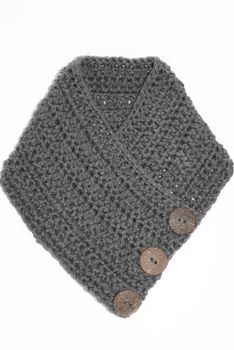 Crochet Scarf - Charcoal