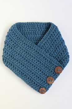 Crochet Scarf - Denim
