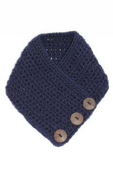 Crochet Scarf - Navy