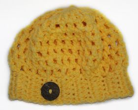 Slouch Beanie - Yellow