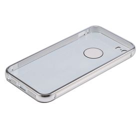 Tuff-Luv Polished Metal Bumper for the Apple iPhone 5/5S and SE - Silver