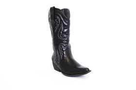 Savoy Cowboy Boot in Black