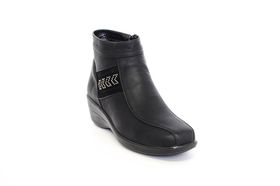 Paradise Low Wedge Ankle Boot in Black