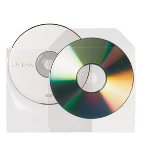 3L Non-Adhesive CD/DVD Pocket With Flap (Pack of 25)