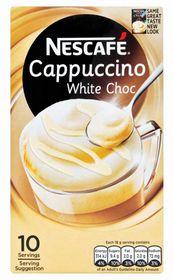 Nescafe - Cappuccino White Choc Instant Coffee 10 Sachets - 18g