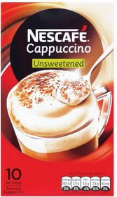 Nescafe - Cappuccino Unsweetened Instant Coffee 10 Sachets - 12.5g