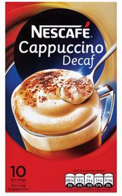 Nescafe - Cappuccino Decaffeinated Instant Coffee 10 Sachets - 15g