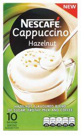 Nescafe - Hazelnut Cappuccino Instant Coffee 10 Sachets - 18g