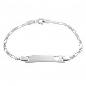Miss Jewels 925 Sterling Silver Heart ID Bracelet