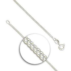Miss Jewels 925 Sterling Silver Curb Chain - 50cm