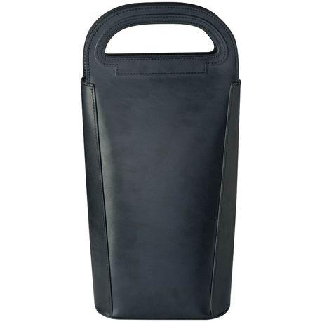 Eco Bonded Leather Wine Cooler Bag Black