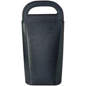 Eco - Bonded Leather Wine Cooler Bag - Black
