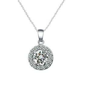 Yeoman Round Cut Simulated Diamond Halo Pendant Necklace