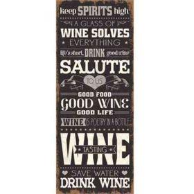 Pamper Hamper - Wine Solves Metal Plaque