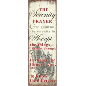 Pamper Hamper - Serenity Prayer Metal Plaque