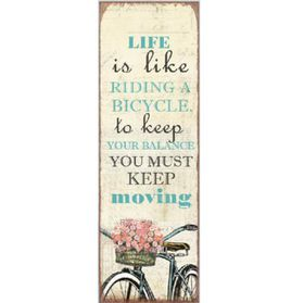 Pamper Hamper - Life Is Like Metal Plaque